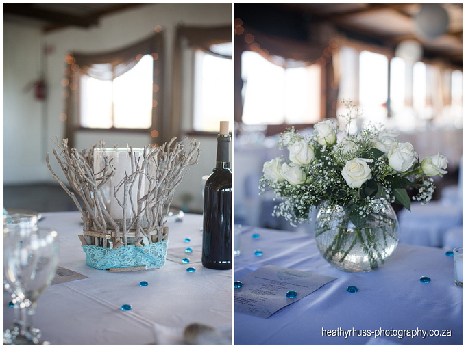 Wedding decor beach turquoise white