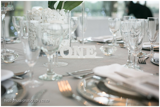 Grey wedding decor
